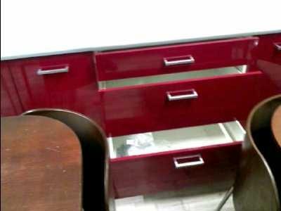 Cuisine urbat laquee rouge grise noire blanche 10 elements neuve ss carton d - Emmaus poitiers meubles ...