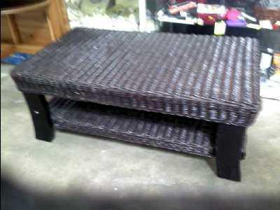 table basse osier noir d 39 occasion. Black Bedroom Furniture Sets. Home Design Ideas