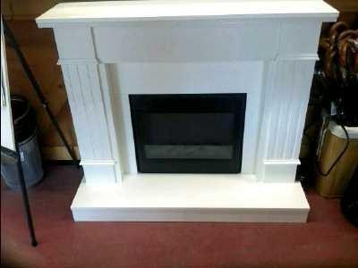 cheminee electrique 2000w habillage bois blanc d. Black Bedroom Furniture Sets. Home Design Ideas