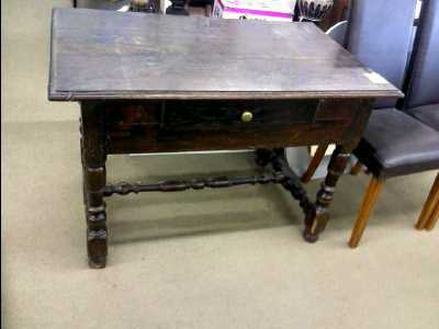 Table bureau style louis xiii 1 tiroir d 39 occasion for Bureau louis 13 prix