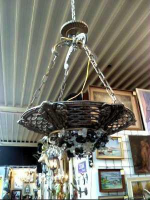 suspension art deco d 39 occasion. Black Bedroom Furniture Sets. Home Design Ideas